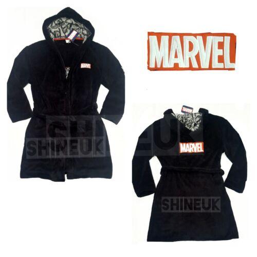 MARVEL Comics men/'s soft Hooded Bathrobe Dressing Gown Black New design Primark