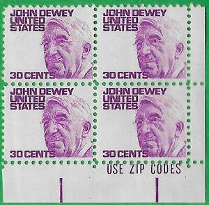 USA-Estados Unidos 1968 30c franqueo John Dewey bloque de 4 Scot 1291 estampillada sin montar o nunca montada: