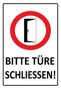 Please-Door-Close-Tin-Sign-Shield-Metal-7-8x11-13-16in-FA1492