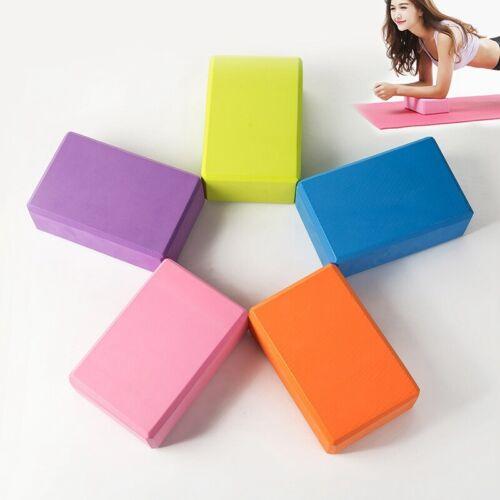1pc Yoga Brick Yoga Pilates EVA Foam Fitness Streching Exercise Gym Training