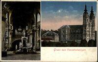 Vierzehnheiligen bei Bad Staffelstein 2 Bilder AK 1922 Gnadenaltar Aussenansicht