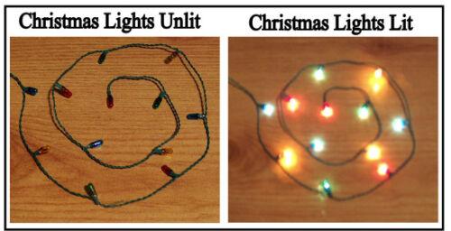 1//12 Dolls House Miniature 12x Christmas Lights Lamps xmas lighting baubles  LGW