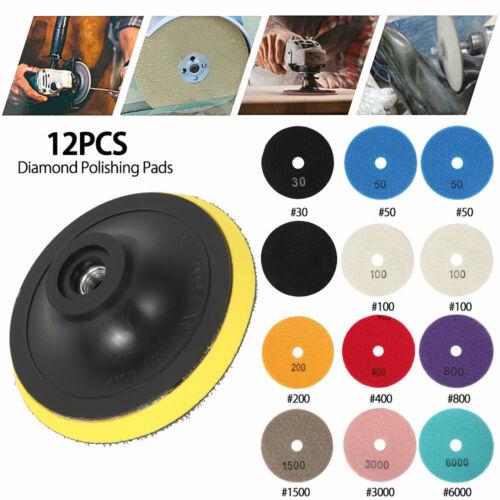 4inch Wet//Dry Diamond Polishing Pads Sanding Disc Marble Granite Concrete 000
