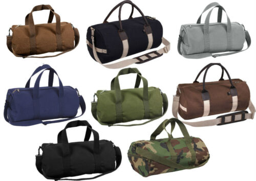 """Tactical Shoulder Bag Camo Sports Canvas Gym Duffle Carry Strap Tote 19/"""" Rothco"""