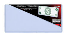 25 Cases 7.5 x 3.5 Ultra Pro Large Bill Currency Toploaders Topload Holders