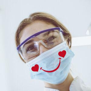 Sticker-sourire-coeurs-autocollant-pour-masque-10-pieces-bouche-rouge