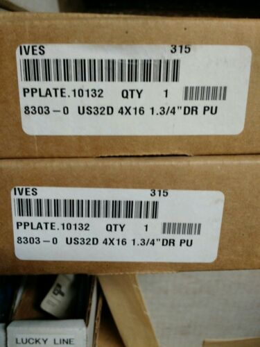 """Ives 8303 HEAVY DUTY PUSH//PULL Door PLATE 4 X 16 1 3//4/"""" US32D Stainless Steel"""