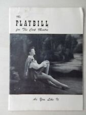 May 1950 - Cort Theatre Playbill - As You Like It - Katherine Hepburn