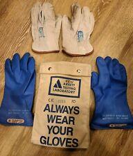Salisbury Lineman Gloves Class 00 Type Ii 500 Volt Size 10 Gloves