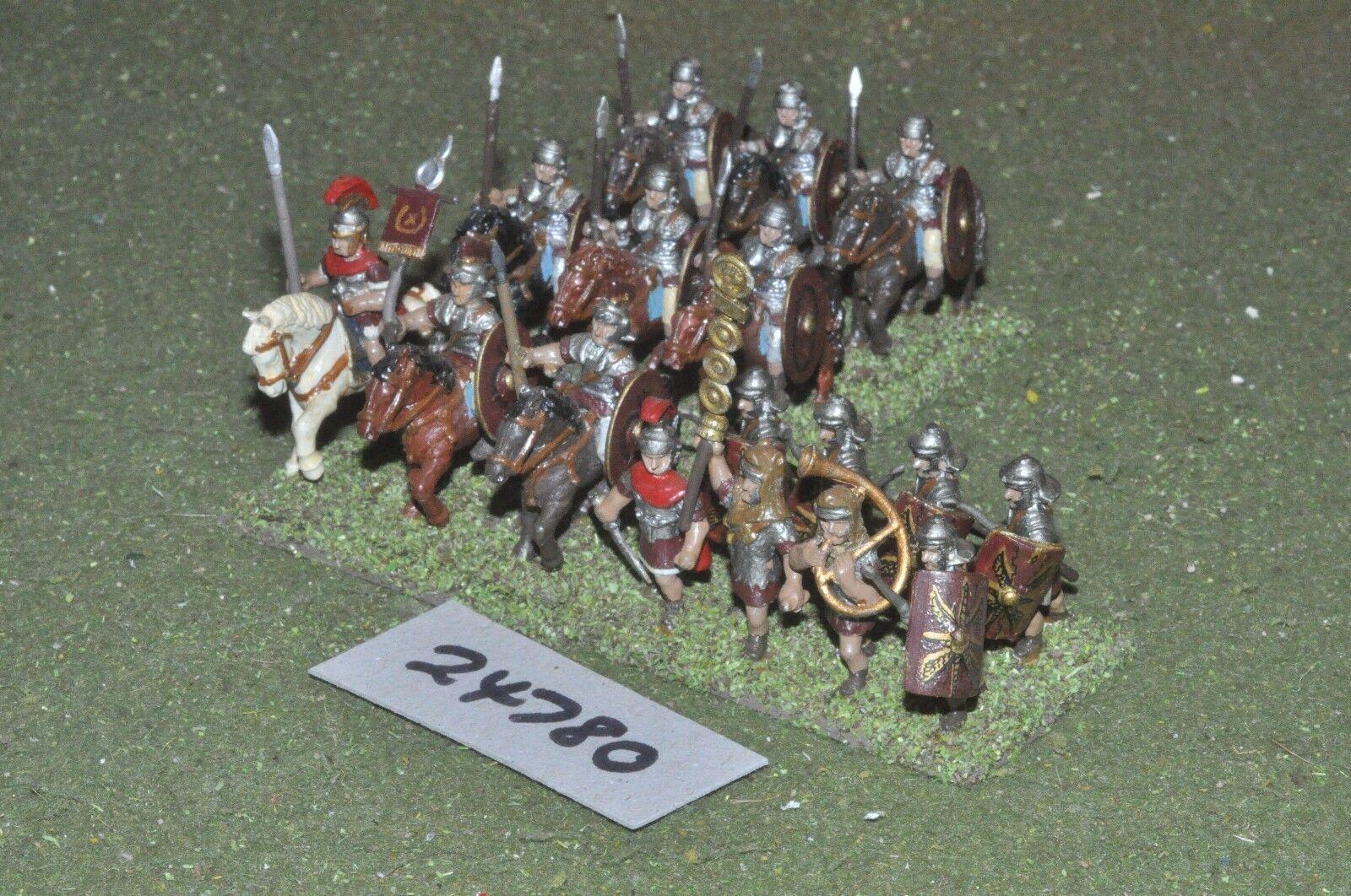 25mm roman era   roman - battle group 17 figures - cav (24780)