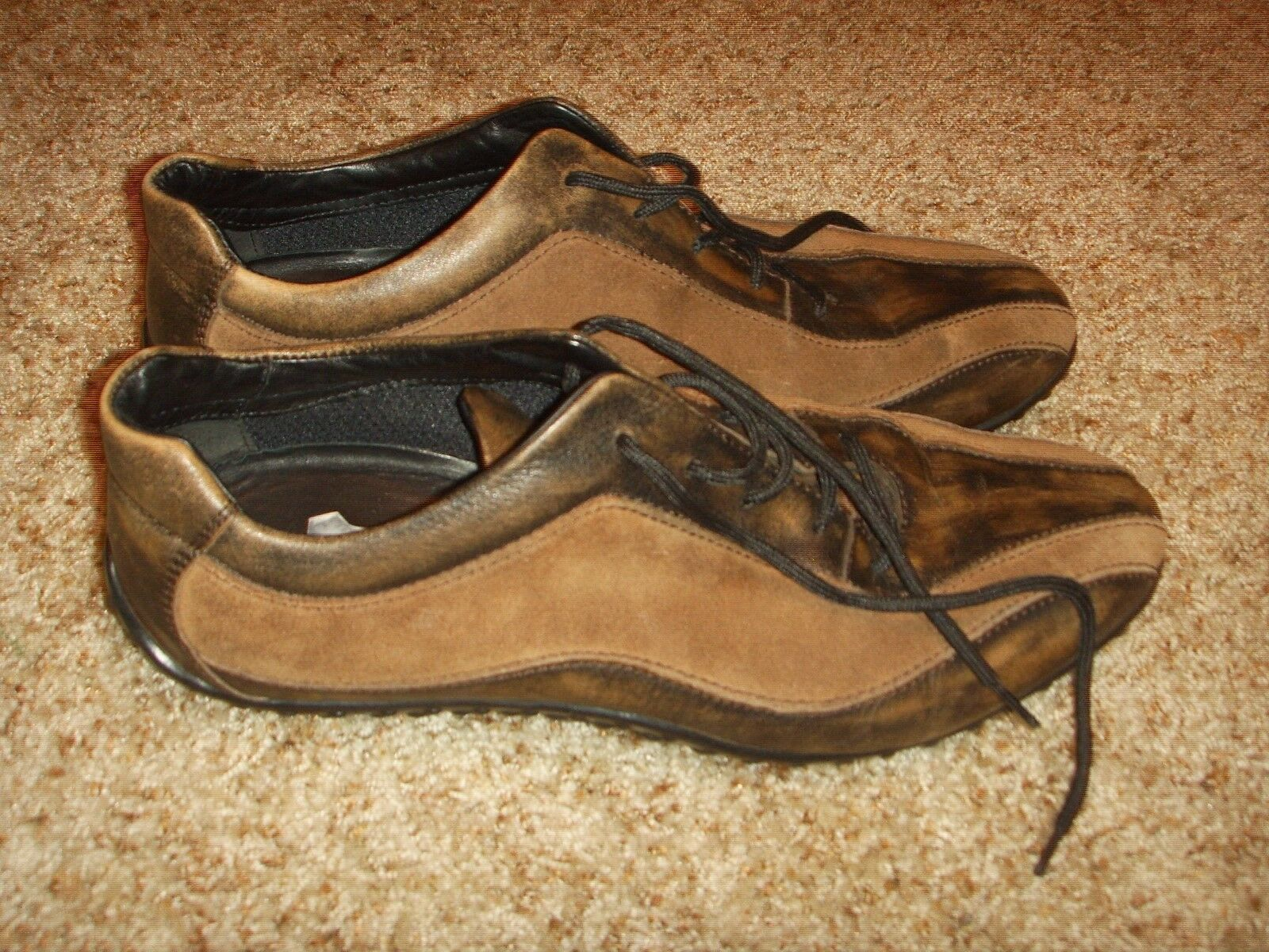Geox Leather Suede 2 tone Oxford Driving Mens Size 44