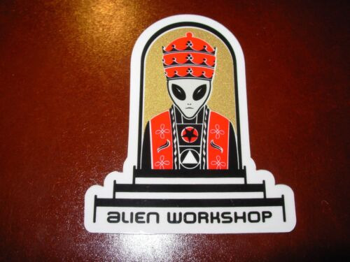 ALIEN WORKSHOP emperor Logo Skate Sticker skateboards helmets decal
