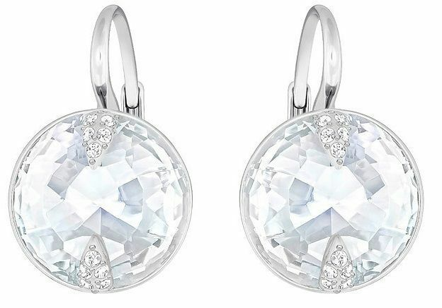 Swarovski Globe Pierced Earrings, White, Rhodium Plating  NIB Authentic 5274314