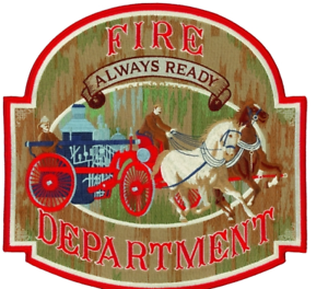 """Fire Department """"Always Ready"""" 12"""" Patch suitable for framing or back of jacket"""