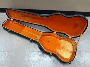 Vintage 1963 Gibson Sg Guitar Case Black Tolex Orange Interior 1964