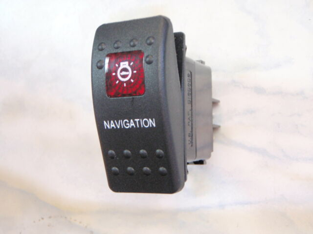 CONTURA II SWITCH  SCREENED NAVIGATION FOR NAV LIGHTS V1D1 BLACK 1 RED LENS
