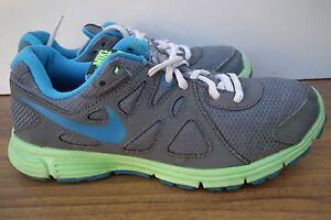 Image is loading Nike-Revolution-2-Grey-Blue-Aqua-Trainers-Sneakers-