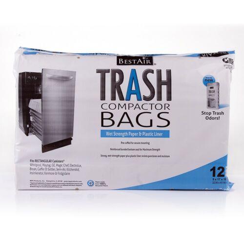 16/'/' D. x 9/'/' W. x 17/'/' H,pack of 12 BestAir Trash Compactor Bags