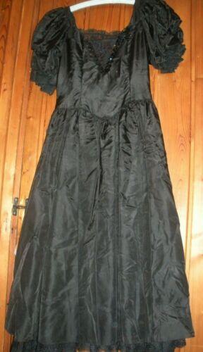 Vintage Black Taffeta Gunne Sax Dress