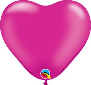 6-034-HEART-SHAPED-BALLOONS-100PK-PEARL-MAGENTA-HOT-PINK-QUALATEX-15cm-BALLOONS