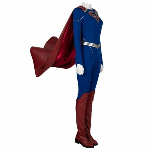 Supergirl Superwoman Cosplay Boots Red long Boots PU Leather shoes for Halloween