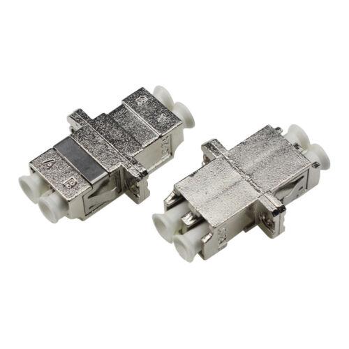 10pcs New LC//PC Singlemode Multimode Fiber Optic Connectors Duplex Metal Adapter