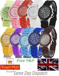 Silicone-Quartz-Jelly-Analog-Wrist-Watch-for-Boys-Girls-Mens-Womens-Ladies-UK
