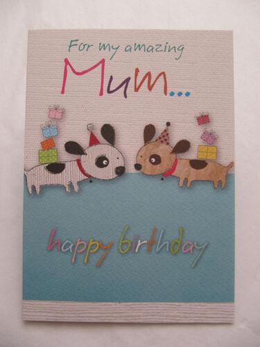 Merveilleux Coloré pour mon incroyable Maman Anniversaire Carte De Vœux
