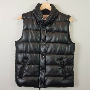 SEED HERITAGE | Womens Black Sleeveless Puff Jacket  [ Size AU 10 or US 6 ]