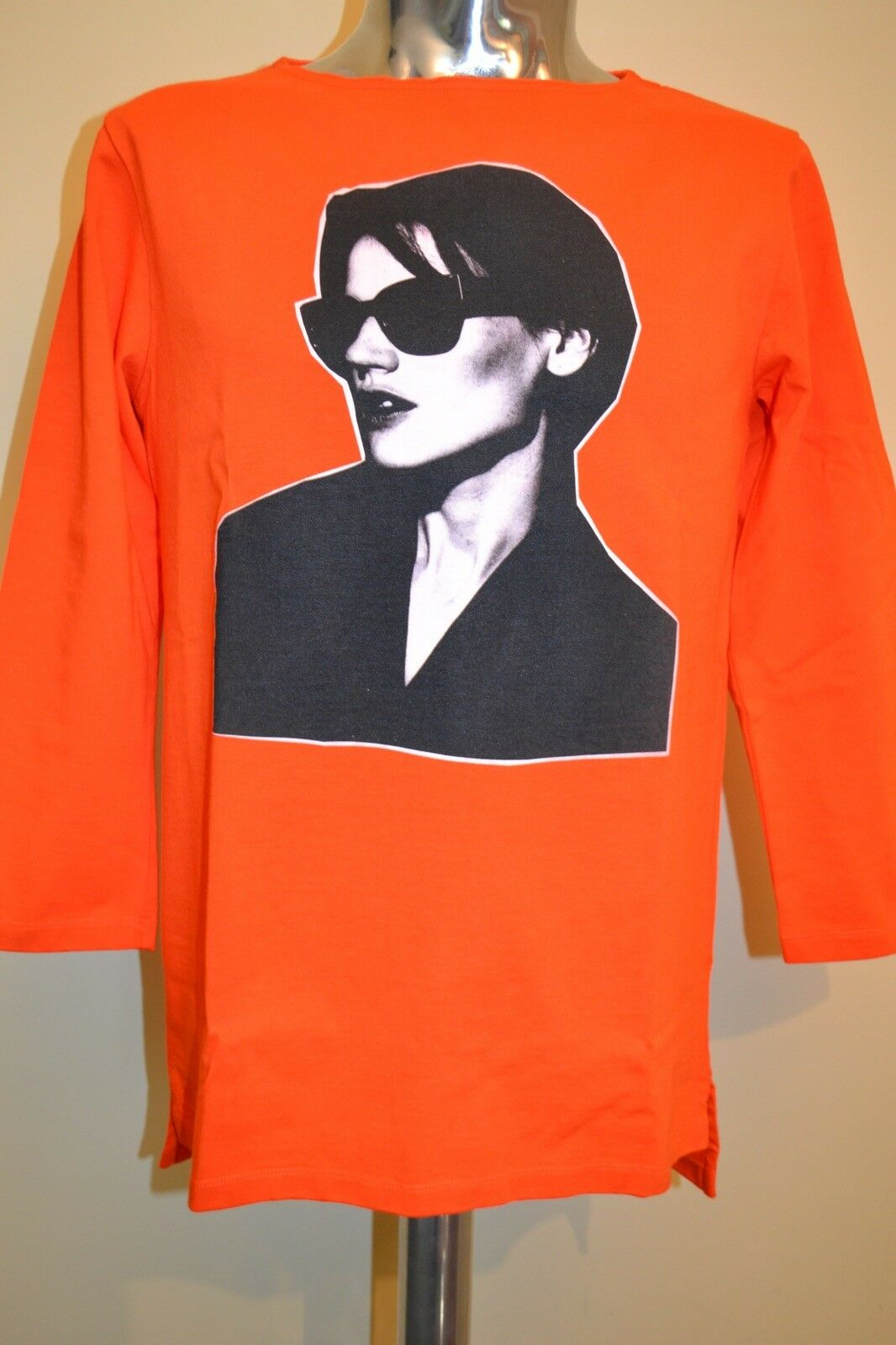Paul Smith PS MAINLINE Faces Long Sleeve Slimfit Casual Top Small NEW