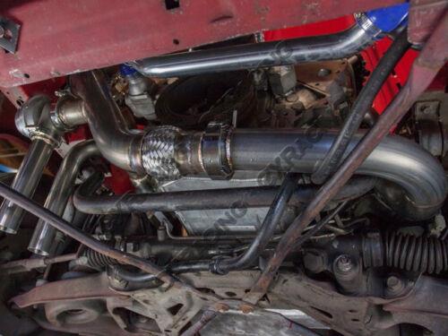 CX Radiator Aluminum Hard Pipe Kit For 79-93 Ford Mustang LS1 LSx Engine Swap