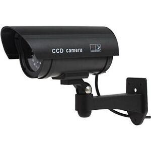 Outdoor-Indoor-FALSO-Manichino-Cctv-Telecamera-Sicurezza-Imitazione-con-lampeggiante-nero