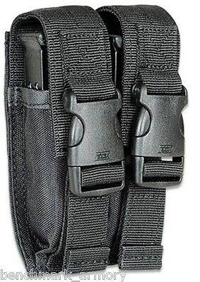 GLOCK / BERETTA Dual Double Stack Pistol Magazine Pouch Belt Holster 45 40 9mm
