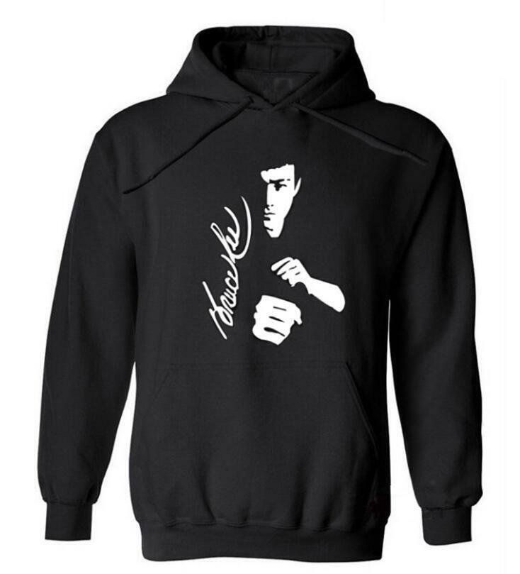 Details about Bruce Lee men's hoodies hoodie embroidered velvet guard coat  jacket sweater hot