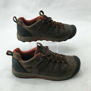 Keen-Bryce-Trail-Hiking-Shoes-Low-Top-Lace-Up-Waterproof-Leather-Brown-Mens-11-5