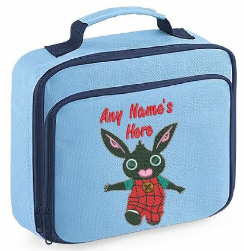 Personalised Embroidered Bing design Kids Lunch Bag Insulated School Dinner Box