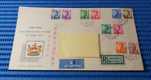 1962-Hong-Kong-First-Day-Cover-Queen-Elizabeth-II-Commemorative-Stamp-Issue