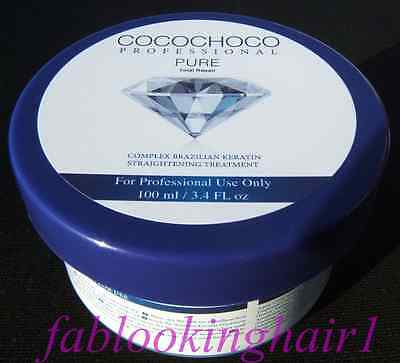 COCOCHOCO PURE 100ml Kit Brazilian Blow Dry Keratin Treatment For Blonde Hair