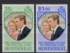 100% De Qualité Montserrat 1973 Mariage Royal Ensemble Neuf Sans Charnière-afficher Le Titre D'origine