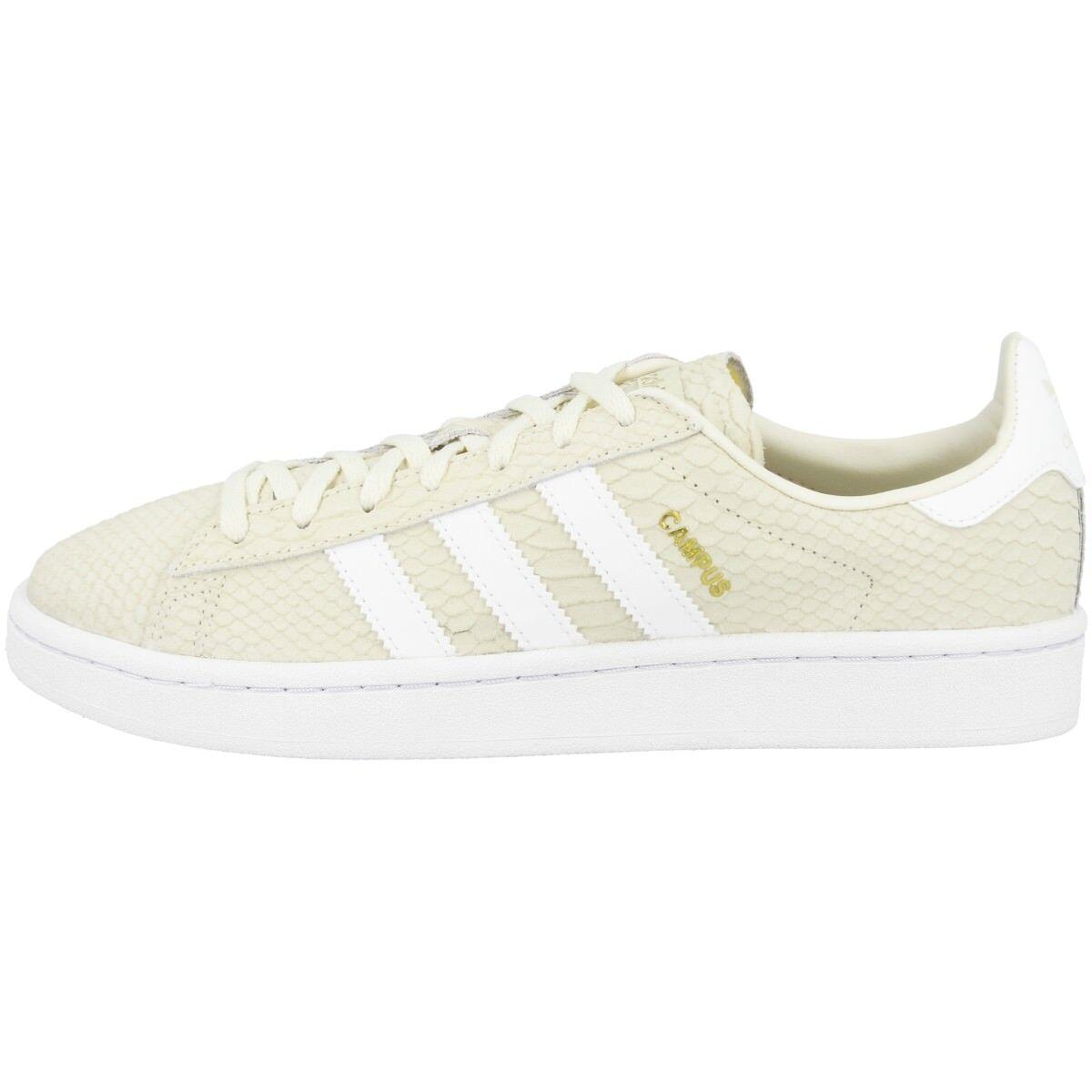 Adidas campus zapatos woman original sport zapatilla de deporte retro Cream blancoo oro