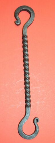 """S-Hook Hanger,Twisted Wrought Iron 9 3//4/"""" long 5//16/"""" square by Blacksmiths USA"""