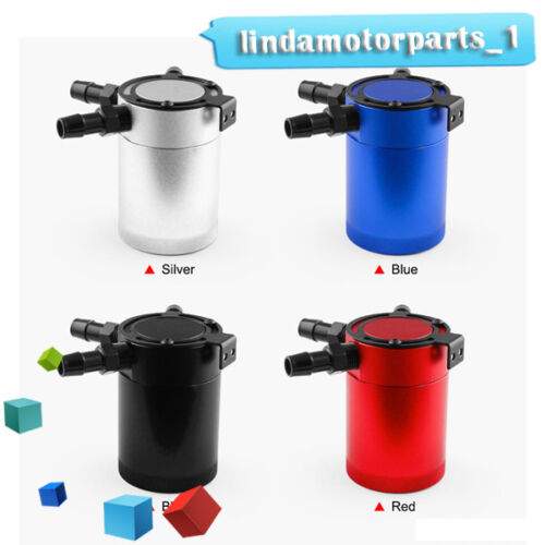 New 4-color Racing Baffled 3-Port Oil Catch Can//Tank//Air-Oil Separator