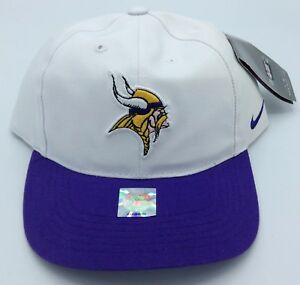 new arrival 77fe6 c0036 Details about NFL Minnesota Vikings Nike Adult Structured Adjustable Fit  Cap Hat Beanie NEW!