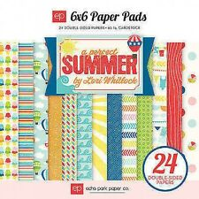 """New Echo Park 6"""" x 6"""" Papers Stack Perfect Summer"""
