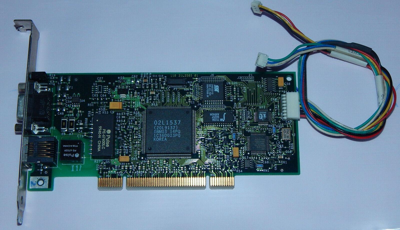 PCI Riser Card Network IBM16/4 Token ringpci Adapter 2 with Wake IBM 34L0701