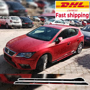For All Car Model 4 Pcs Sill Side Skirt Trim RED For Volkswagen Seat BMW All Car