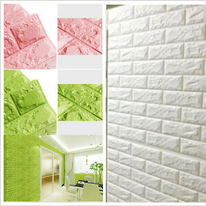 Amazing Image Is Loading Self Adhesive 3D Embossed Brick Waterproof Wall Sticker