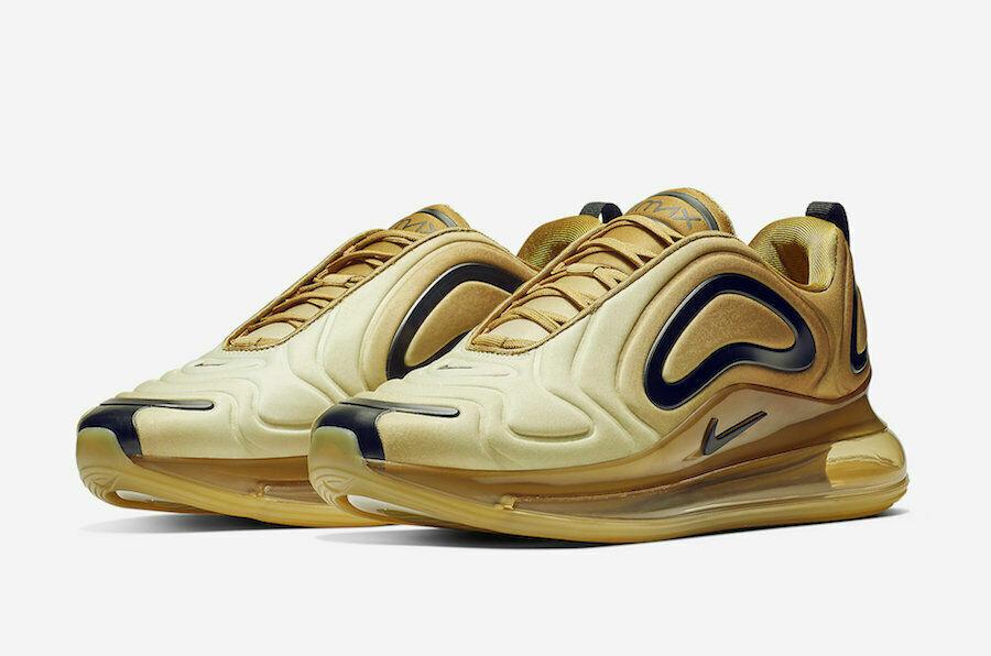 Niko Men's Air  Max 720 Desert nero Club oro Running scarpe A2924 -700  all'ingrosso a buon mercato