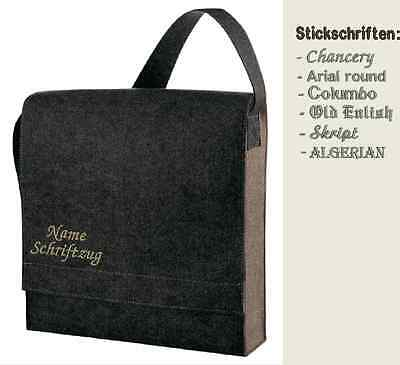 Filztasche BESTICKT mit Namen Schulter Tasche Shoulder Bag Connectclassic Halfar