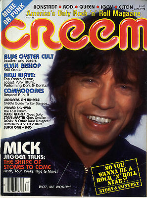 CREEM Magazine Jan 1978 Blue Oyster Cult Lynyrd Skynyrd Mick Jagger Stones